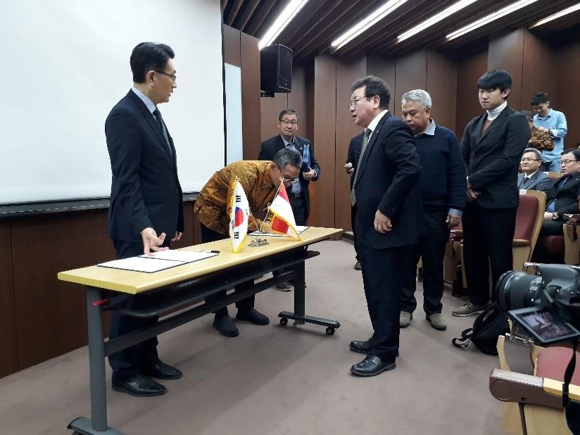 Penandatanganan MoU antara LPPPTK KPTK dengan Yeoju Institute of Technology untuk  Bidang Teknologi