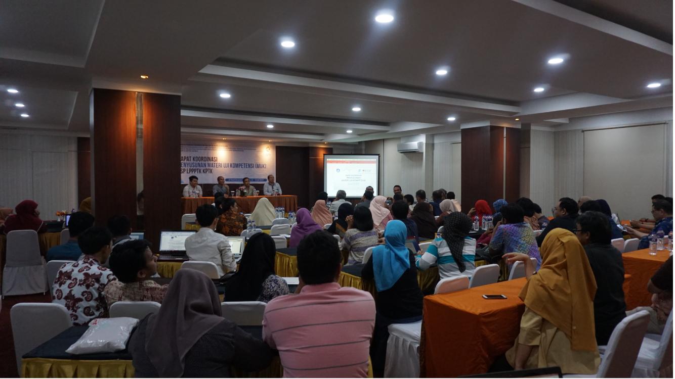 Rapat Koordinasi Penyusunan Materi Uji Kompetensi (MUK) Skema Sertifikasi LSP LPPPTK KPTK
