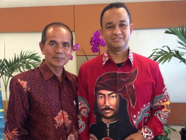 Mendikbud Anies Baswedan, Ph.D bersama dengan Kepala LPPPTK KPTK Dr. H. Rusdi, M.Pd.